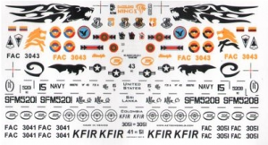 IAI Kfir C-7, C10, C12, F21-A, Colombia, Sri Lanka, U.S. Navy