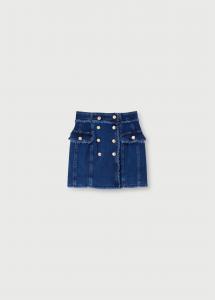 LIU JO UA1109D450678037 Minigonna di jeans con bottonI
