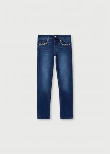 LIU JO JEANS UA1006D41867 Jeans skinny con catene gioiello