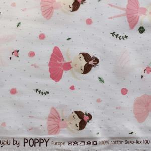 Cotone  fantasia Ballerine - Oeko-Tex 100- By Poppy