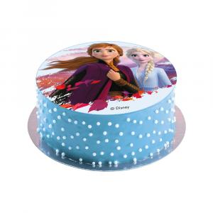 Disco decorativo per torte di compleanno Frozen