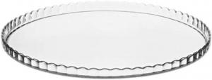 Piatto in vetro trasparente per torta e dolci