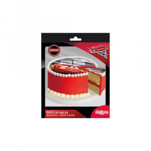 Disco commestibile decorativo per torte personalizzato Cars