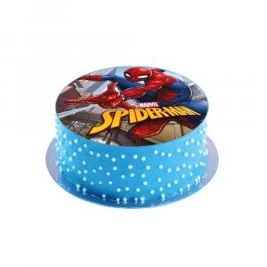 Disco per torta di compleanno commestibile Spiderman