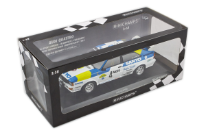 Audi Quattro Blomqvist Cederberg Winners International Swedish Rally 1982 1/18 Minichamps