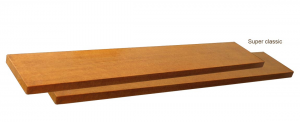 Wooden shelf with fixings
