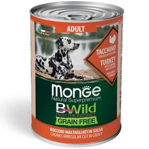 Monge Bwild cane Grain Free – Bocconi maltagliati in salsa – Adult 400gr
