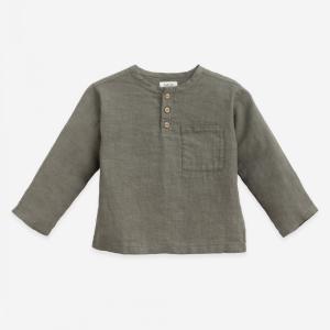 Camicia in lino con tasca
