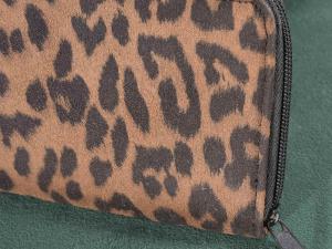 Portafoglio stoffa Animalier con chiusura zip