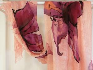 FOULARD DEGAS - sfondo salmone