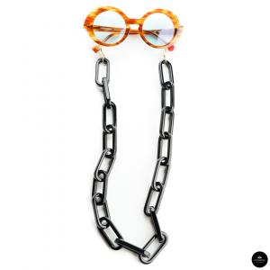 Catenella occhiali in resina Oversize NERA