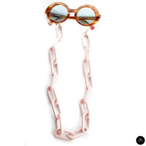 Catenella occhiali in resina Oversize ROSA