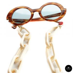 Catenella occhiali in resina Oversize AVORIO
