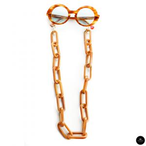 Catenella occhiali in resina Oversize TORTOISE