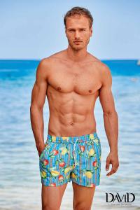 Completo t-shirt e costume da bagno per uomo in fantasia DAVID