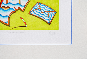 Ghelli Giuliano Le forma dell'acqua Serigrafia Formato cm 29,5x29,5