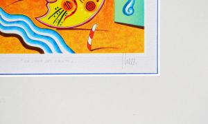 Ghelli Giuliano La luna dei canti Serigrafia Formato cm 29,5x29,5