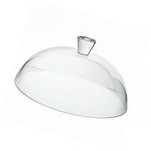 Campana cupola cloche coprivivande in vetro trasparente cm.15h diam.31