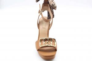 Liu Jo sandalo con tacco e fiocco animalier