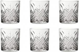 Set da 6 bicchiere in vetro da whisky, cl 34,5, Timeless cm.9,6h diam.8,5
