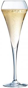 Set 6 pezzi, calice flute in vetro cristallino, cl 20,per spumanti e champagne, Open Up cm.23,4h diam.7,5