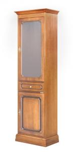 Vitrina columna en madera 2 puertas ahorra espacio