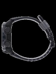 Casio G-Shock Skeleton, multifunzione, cassa nera cinturino trasparente