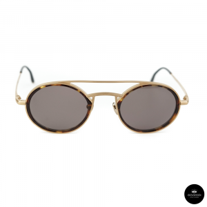 MASUNAGA designed by Kenzo, VELA / Gold and tortoise