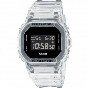 Casio G-Shock Skeleton, orologio digitale multifunzione, cassa acciaio e resina trasparente