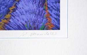 Mondelli Giò Paesaggio in Provenza Serigrafia e Litografia Form. cm 56x76