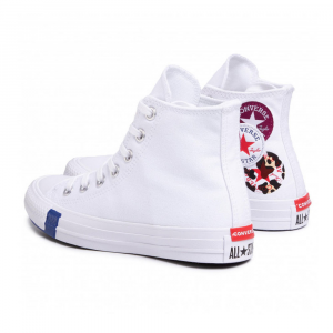 Converse Chuck Taylor All Star Patch Bianche Unisex