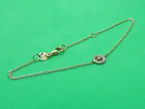 Bracciale in Oro rosè 18 kt con fiore in Diamanti