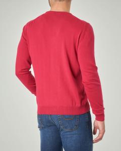 Maglia rossa girocollo in cotone