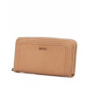 Portafoglio XL Zip Around  colore cappuccino LIU JO