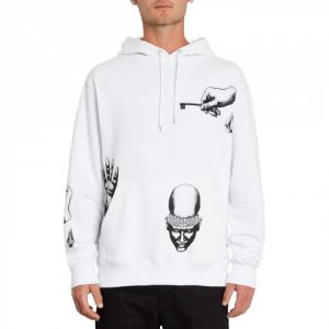 Felpa Volcom Pullover Fleece White Key