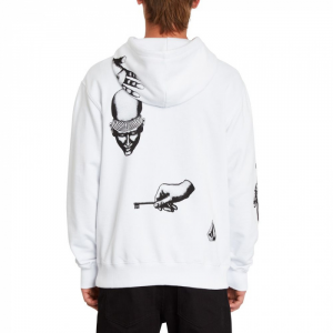 Felpa Volcom Pullover Fleece White Key
