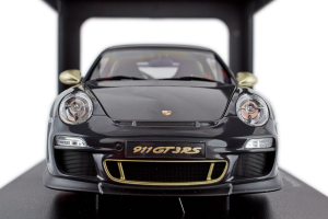 Porsche 911 GT3 Rs 3.8 Grey Black White Gold Metallic Stripes 1/18 Autoart