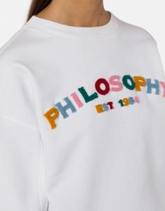 Felpa bianca philosophy di lorenzo serafini