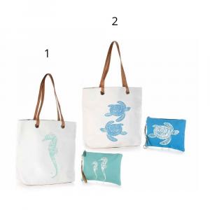 Set borsa manici similpelle e pochette resistente all'acqua