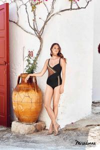 Costume da bagno intero per donna con incrocio nero MIRADONNA