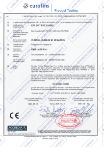 MASCHERINA FFP2 NERA TAGLIA L IG MASK (GMM LABS)