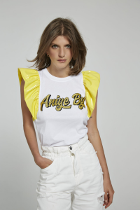 T-shirt top vynil Maty giallo Aniye By
