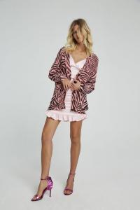 Giacca zebra rosa in cotone Aniye By