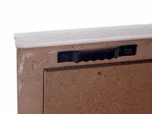Quadro portafoto legno bianco Travel world da appendere