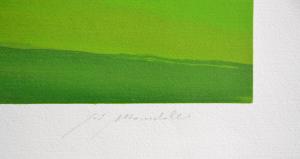 Mondelli Giò Composizione 3 Serigrafia e Litografia Form. cm 50x120
