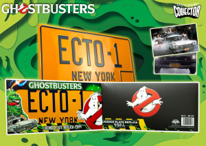 Ghostbusters Replica 1/1 ECTO-1 License Plate by Doctor Collector