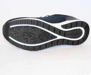 Ginnastica sneaker lacci uomo tessuto blu/grigio Vendor SM62111
