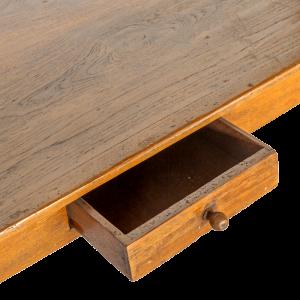 Tavolo / Scrivania in legno di teak con cassetto centrale