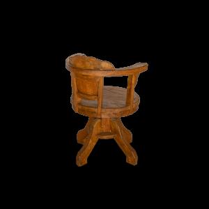 Poltrona girevole in legno di teak recuperato