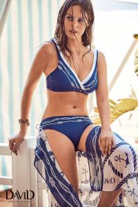 Costume da bagno per donna bikini due pezzi blu DAVID